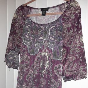 Pretty Purple Boho Blouse
